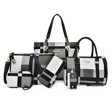 MIWIND نساء حقائب كروسبودي 2020 جديد بولي New حقائب جلدية حقائب 6 قطع مجموعة وظيفية المحمولة سعة كبيرة مقاومة للاهتراء