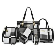 Miwind Vrouwen Crossbody Tassen 2020 Nieuwe Pu Lederen Tassen Handtassen 6 Stuk Set Functionele Draagbare Grote Capaciteit Dragen slip