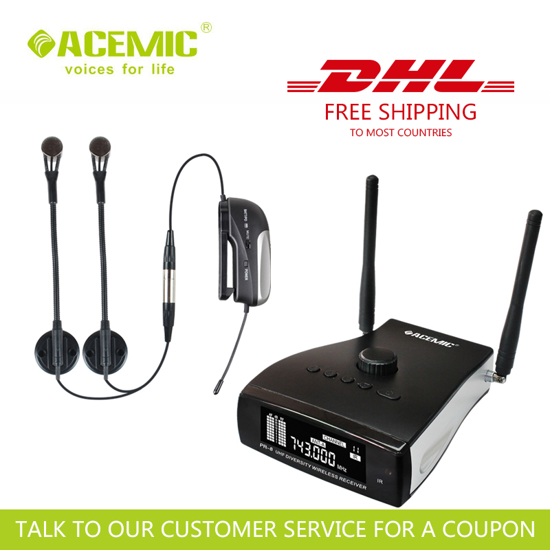 FREE SHIPPING & FAST SHIPPING ACEMIC PR-8/AT-20 Wireless Microphone Designed For Accordion
