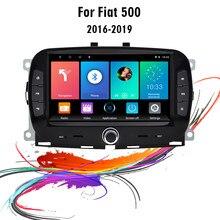 Für Fiat 500 2016-2019 7 Zoll 2 Din Android Auto Multimedia Player WIFI Navigation GPS Auto Stereo Kopf einheit WIFI SWC FM