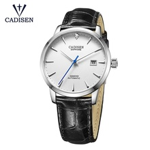 Men Watches Miyota-Movt Automatic Mechanical CADISEN Glass-Clock Auto-Date Sapphire Japan