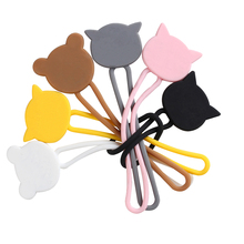Organizer Cable-Winder Data-Wire-Cable Silicone 6PCS Buckle Tie-Phones Finishing High-Quality