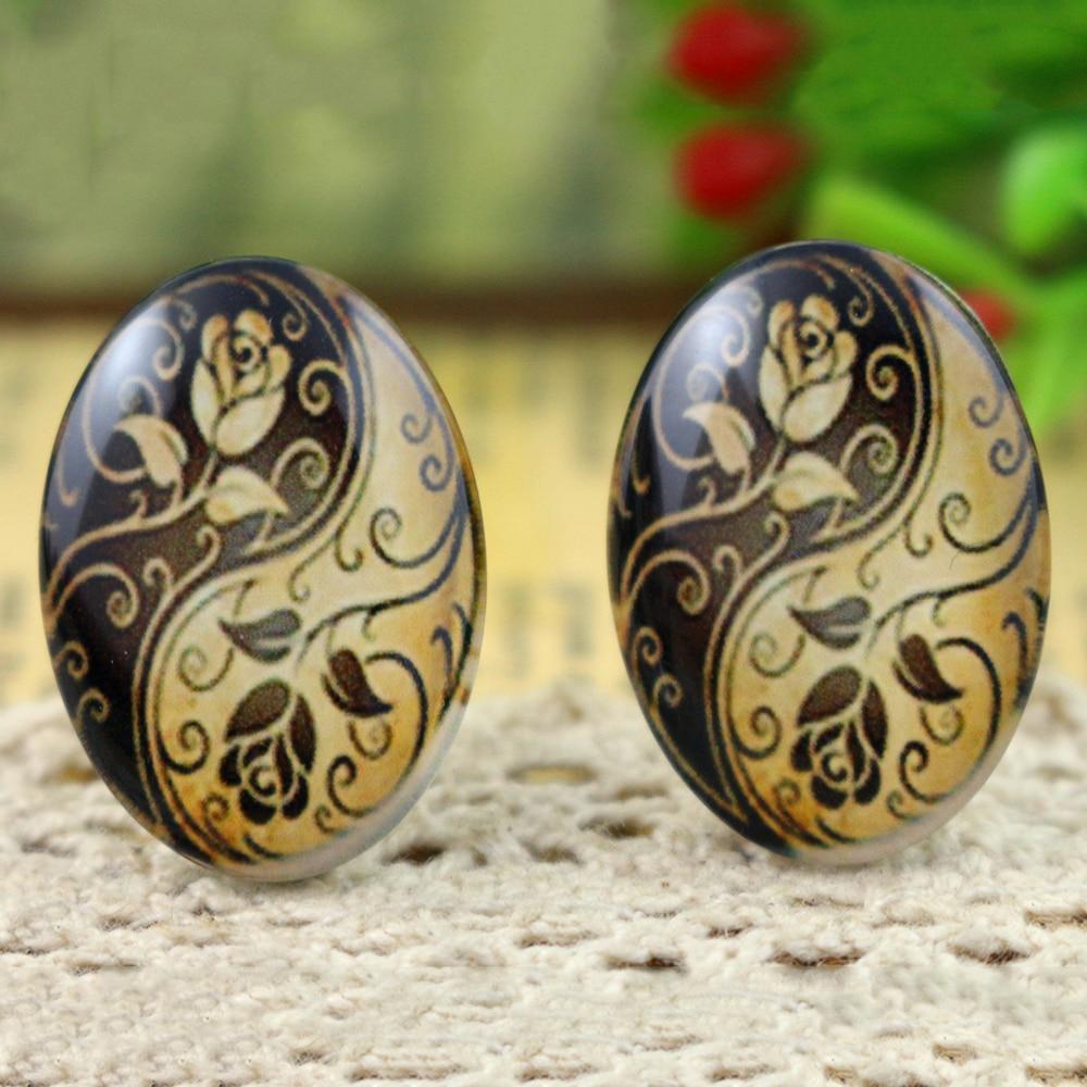 10pcs 18x25mm Handmade Photo Glass Cabochons  (H6-31)