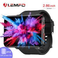 LEMFO LEMT 4G inteligentny zegarek Android 7.1 3G RAM 32G ROM 2.86 cal duży ekran LTE 4G Sim kamera GPS WIFI tętno mężczyźni kobiety