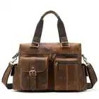 Высокое качество, новинка, мужской портфель из натуральной кожи, сумка мессенджер для ноутбука, сумки на плечо, большая емкость, дорожные су...