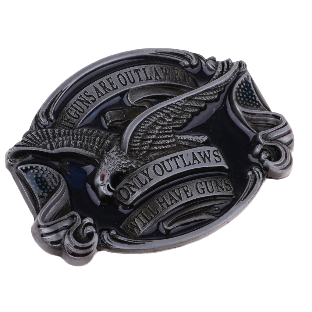 American Men's Classic Flying Soaring Eagle Cowboy Western Belt Buckle Gift