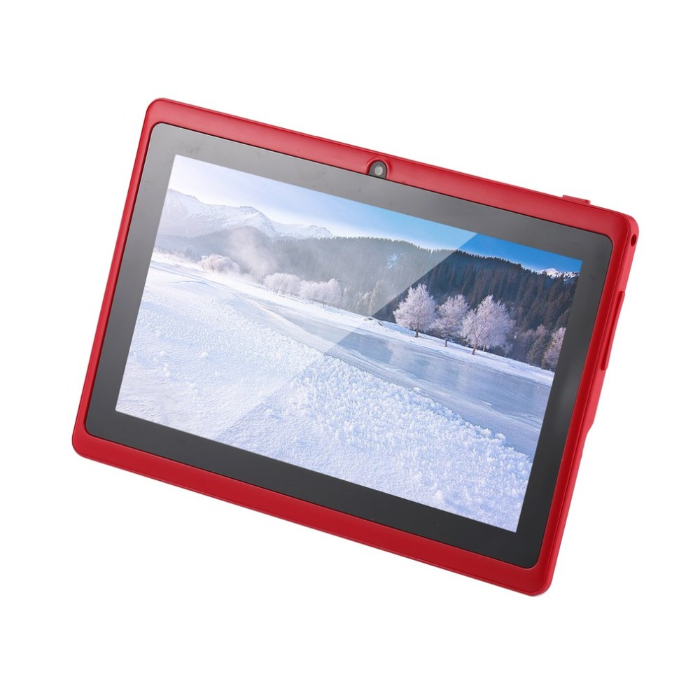 HOT 7 Inch Quad-core Tablet Computer Q88h All-in A33 Android 4.4 Wifi Internet Bluetooth 512MB+4GB Convenient 9 Colors To Choose
