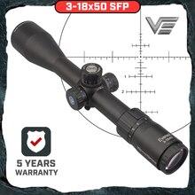 Векторная оптика GenII Everest 3-18x50 AR15 прицел Воздушный пистолет прицел охотничий Тактический MOA с сотовым кольцом. 223. 308 5,56