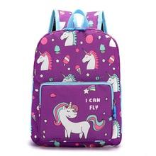 Unicorn Children Backpacks School Bag Animal Kids Backpack Children School Bags Girls Boys Backpacks cheap ANGIETPYE Polyester zipper 0 25kg 11 8inch Animal Prints B047 unisex 9 8inch 25 x 11 x 30cm