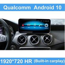 Android 10 Qualcomm Auto Sistema di Comando di Visualizzazione Dello Schermo Per Mercedes Benz CLA Classe GLA 2013-2015 IPS LTE wifi BT Carplay W176(China)