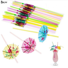 20pc Paper Umbrella Disposable Straw DIY Wedding Party Supplies Bar Cocktail Decor Kitchen