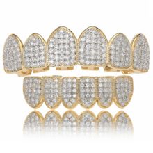 Teeth-Caps Jewelry Grills Punk Dental-Mouth Zircon Fangs Bottom Cosplay Rapper Hip-Hop