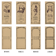 30pcs/pack Retro Poem Kraft Paper Note Book Four Selections Scrapbooking Memo Pads Sticky Notes Bookmark mind readings – introductory selections on cognitive science paper only