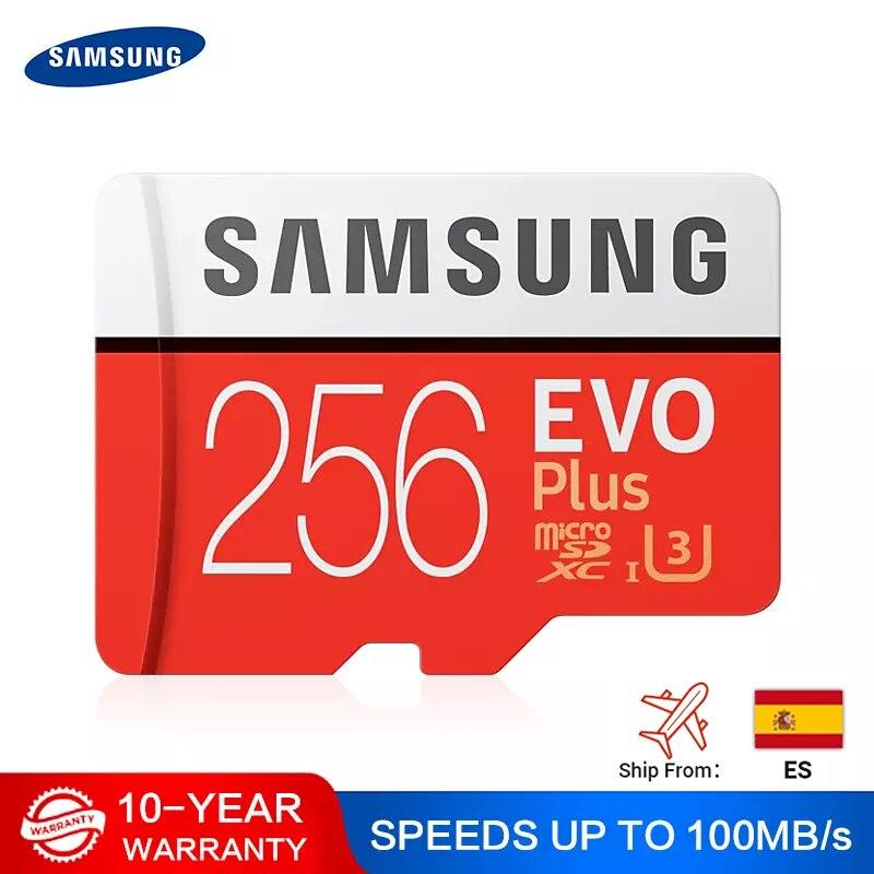 SAMSUNG карта памяти Micro SD 512G карта памяти 256 ГБ 128 Гб 64 Гб 100 МБ/с. SDXC C10 U1U3 UHS-I, мicro SD, TF, флеш-карта, 32 ГБ для смартфонов/планшетов