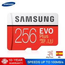 סמסונג מיקרו SD 512G זיכרון כרטיס 256GB 128GB 64GB 100 MB/s SDXC C10 U1U3 UHS I MicroSD TF כרטיס פלאש 32GB עבור Smartphone /Tablet
