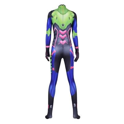 Hot Sale Nano Cola D.Va Skin Cosplay Costume 3D Print Game New DVA Nano Zentai Suit Adults Kids 4