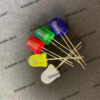Светодиодный рассеянный круглый светильник, 10 мм, 5 цветов, красный, синий, желтый, зеленый, белый