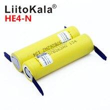 새로운 오리지널 HE4 2500mAh Li lon 배터리 18650 3.7V 전원 충전식 배터리 최대 20A,35A 방전 + 니켈 시트