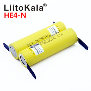 Image 1 - New Original HE4 2500mAh Li lon Battery 18650 3.7V Power Rechargeable batteries Max 20A,35A discharge + Nickel sheet