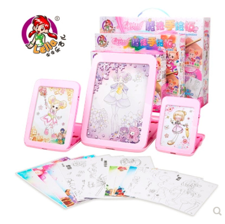 Toys A036 Small Fairy Creative DIY Drawing Board Graphics Tablet Children Drawing Set