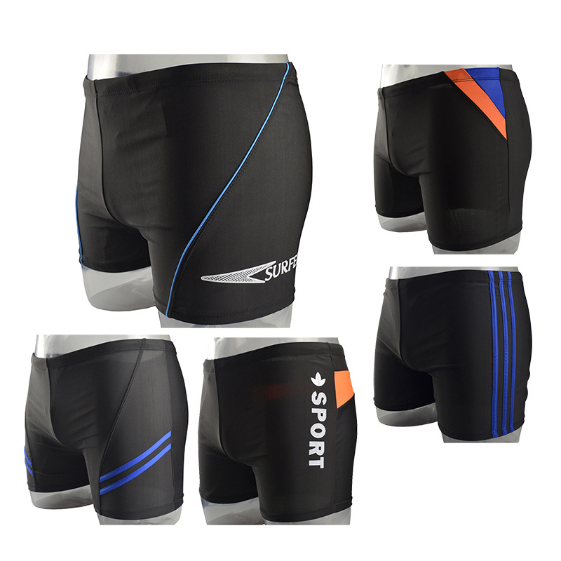 MEN'S Swimming Trunks Boxer Sports Dacron Quick-Dry Large Size Men-Style Swimming Trunks