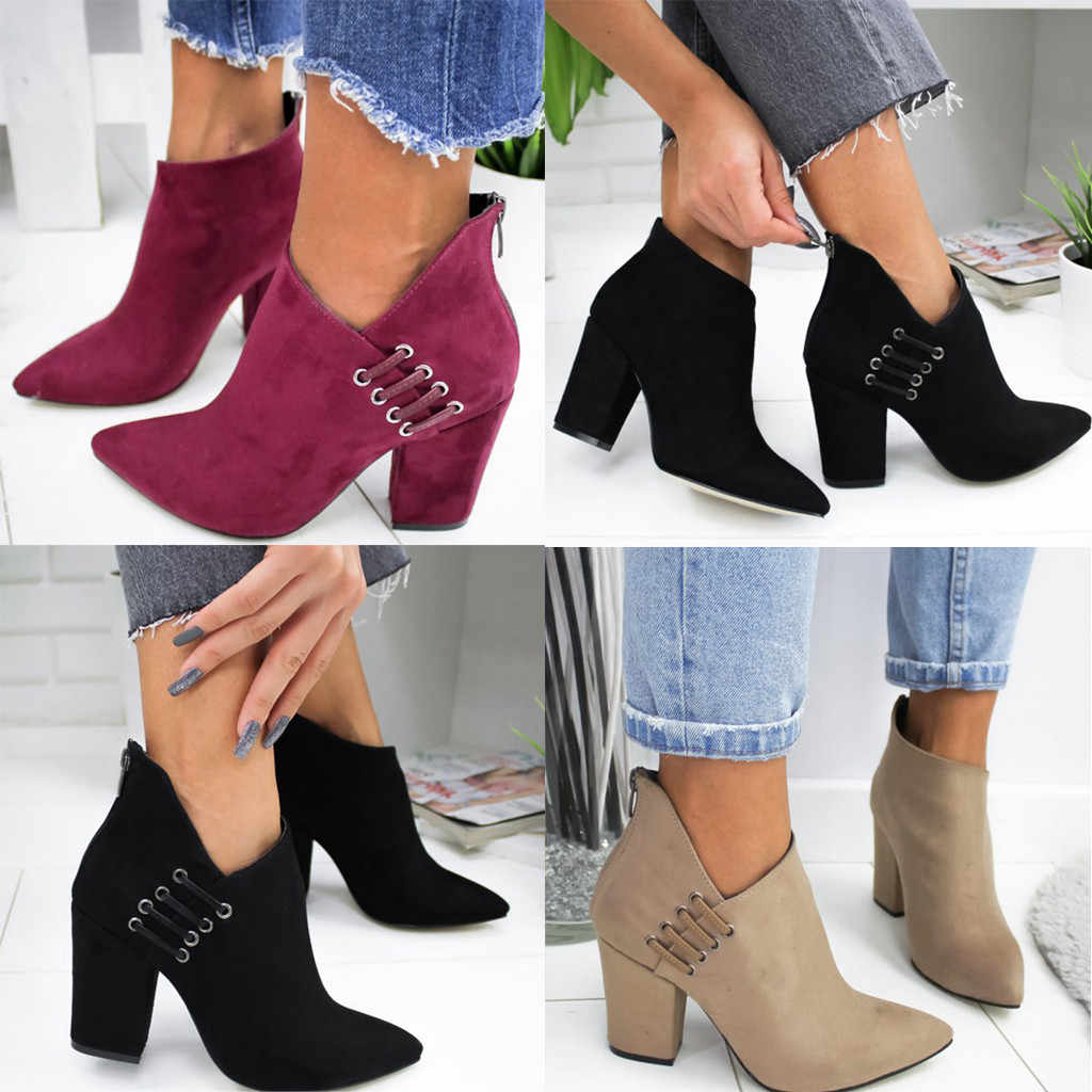 CHELSEA ข้อเท้ารองเท้าบูทสำหรับสุภาพสตรีฤดูใบไม้ร่วงฤดูหนาวรองเท้าแฟชั่นเซ็กซี่สีทึบนิ้วเท้าเดี่ยวสั้น botas mujer