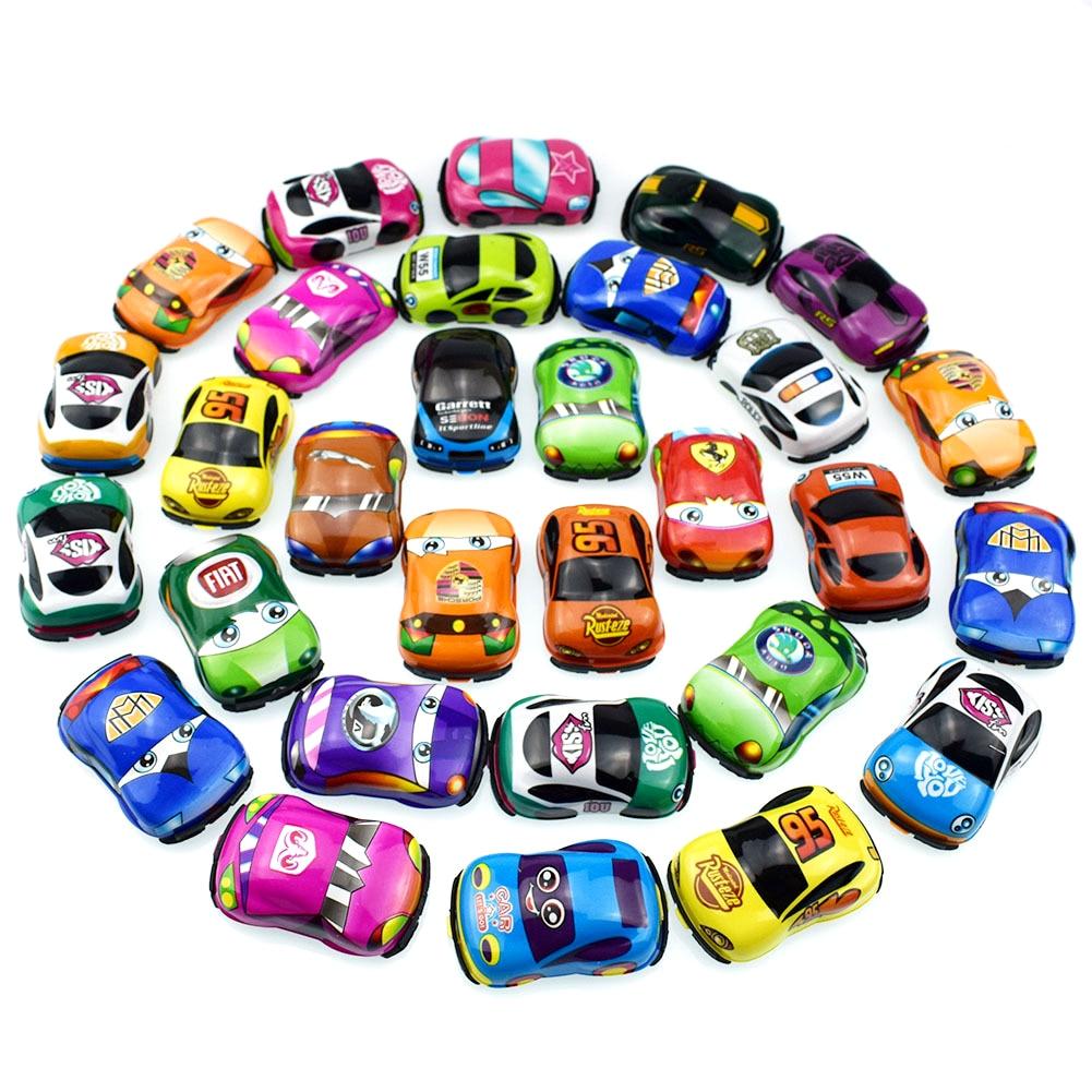 20 adet/grup karikatür oyuncaklar sevimli plastik arabaları geri çekin uçak oyuncak arabalar için çocuk Mini araba modeli komik çocuk oyuncakları erkek kız için GYH