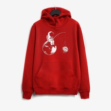 LISCN 2019 Casual Fashion Womens Sweatshirt Astronaut Print Long Sleeve Hooded Fresh Sweet Sports Pullover