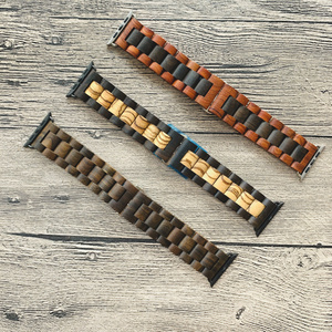 Image 5 - Retro Bamboo Wooden Bracelet Belt For Apple Watch band Wood 38mm 40mm 42mm 44mm Apple iWatch Strap Series 1 2 3 4 5 Watchbands