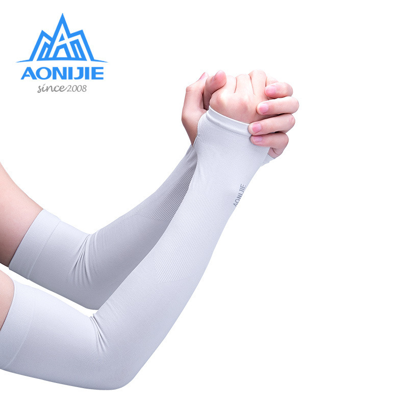 AONIJIE 1 Pair UV Sun Protection Cooling Arm Sleeve Cover Arm Cooler Warmer For Gloves Running Golf Cycling Driving Sun Sleeves