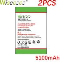 WISECOCO 2 adet 5100mAh BAT16484000 pil DOOGEE X5 MAX Pro telefon son üretim yüksek kalite pil + izleme numarası