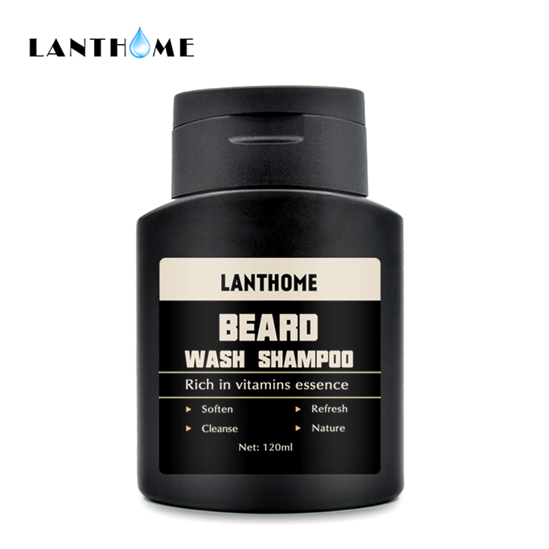 Beard Shampoo and Conditioner Anti Frizz Dandruff Shampoo Anti Hair Loss Beard Care Products Beard Oil Soften Nourishing For Men 1
