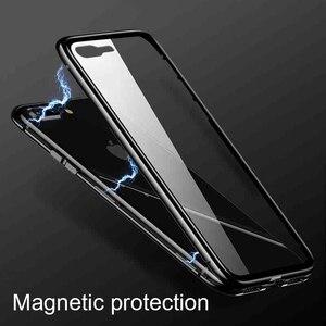 Image 5 - 360 podwójne szklane etui do Xiaomi Redmi Note 8 Pro 8T 9 s 8t 7 8a K30 K20 Mi 10 Pro 5G A3 Lite Max 3 9 SE magnetyczna tylna okładka