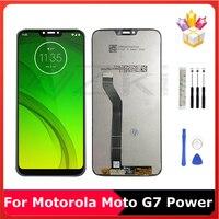 Pantalla LCD de 6,2 pulgadas para Motorola Moto G7, Panel completo de cristal, pantalla táctil de reemplazo piezas de montaje para digitalizador con herramientas de reparación