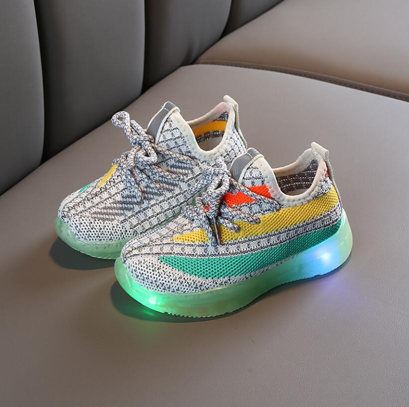 Mesh Colorful LED Sport Run Sneakers 1