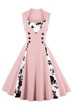 S-4XL Women Robe Retro Vintage Dress 50s 60s Rockabilly Dot Swing Pin Up Summer Party Dresses Elegant Tunic Vestidos Casual цена 2017