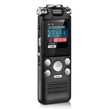 Gravador de voz de áudio digital caneta mini cor lossless display ativado som ditafone mp3 player gravação redução ruído