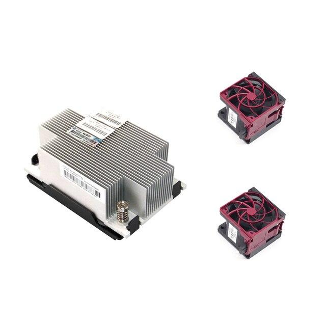 ل HP DL380 G9 DL380p G9 DL388 G9 زيون CPU Kit ، غرفة التبريد 747608 001 و 2 المشجعين 747597 001/777286 001