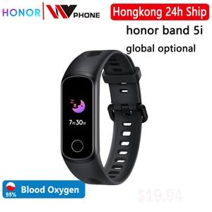 Image 1 - Honor Band 5i Wristband Smart Bracelet Blood Oxygen USB Charging Music Control Monitoring Sports Fitness Bracelet Running track
