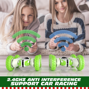 Sinovan Hugine RC Car 2.4G 4CH Stunt Drift Deformation Buggy Car Rock Crawler Roll Car 360 Degree Flip Kids Robot RC Cars Toys 5