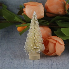 12PCS Christmas Decoration Simulation Small Tree Snow Tower Pine 3.5cm