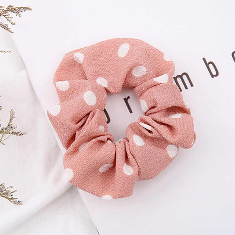 New Women Dot Elastic Hair Rope Ring Tie Scrunchie Ponytail Holder Hair Band Headband Hair Accessories Hair Bands for Women
