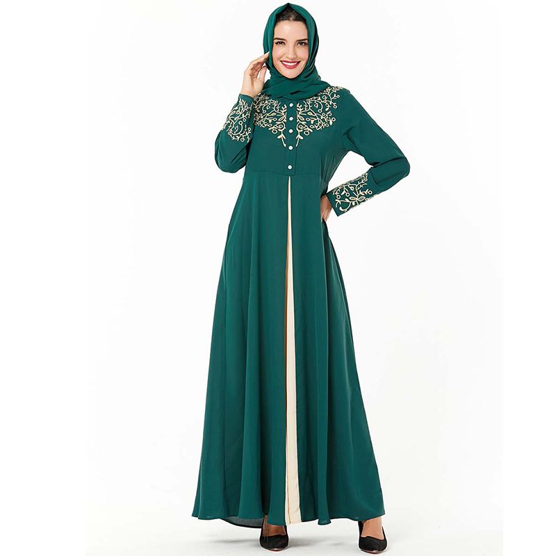 Green Kaftan Arabic Abaya Dubai Turkish Dresses Hijab Muslim Dress Islamic Clothing Abayas For Women Arabia Caftan Marocain Robe