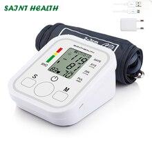 Saint Health Di Động Tự Động Kỹ Thuật Số Cánh Tay Áp BP Máy Đo Huyết Áp Đồng Hồ Đo Áp Suất Đo Tonometer