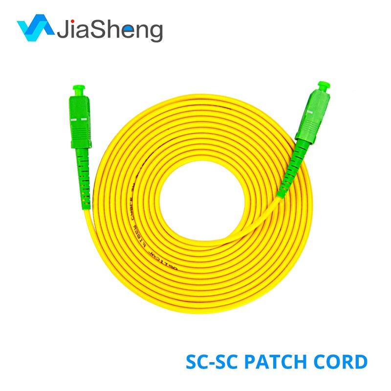 10 pz/borsa SC/APC-SC/APC Simplex monomodale fibra ottica patch cavo del Cavo di 2.0 millimetri o 3.0 millimetri FTTH fibra ottica ponticello
