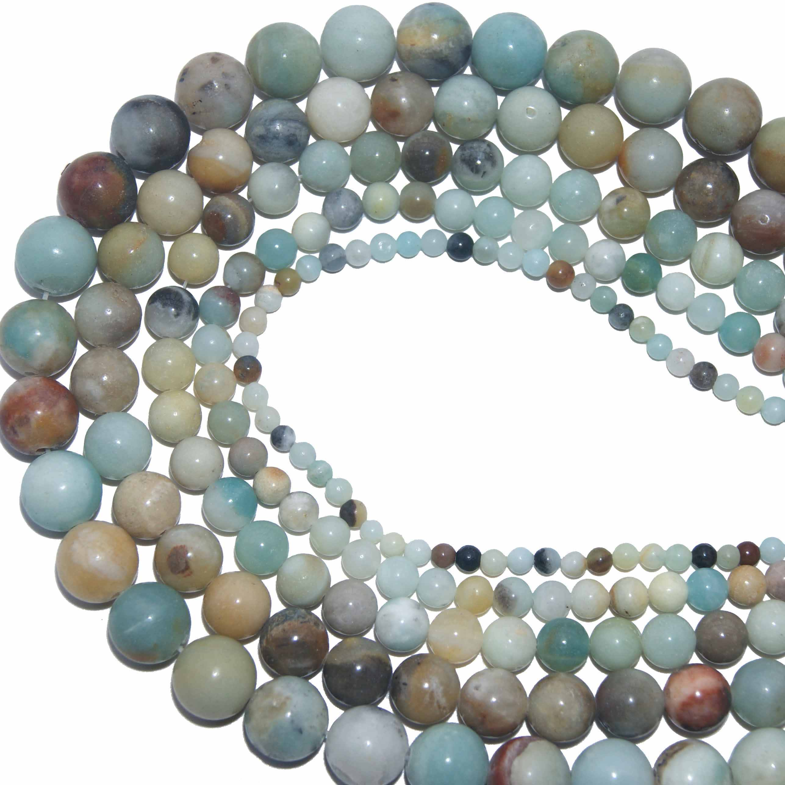 الجملة 4 6 8 10 مللي متر الخرز الحجر الطبيعي الحمم عين النمر Agates اللازورد فضفاض ستون الخرز للمجوهرات قلادة سوار ذاتي الصنع
