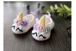 crochet unicorn shoe   model    number  wp0125