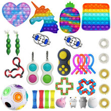 Figet Fidget Toys Anti Stress Pack Stretchy Strings Pop It Box Popit Set Adults Children Squishy Simple Dimple Antistress Relief