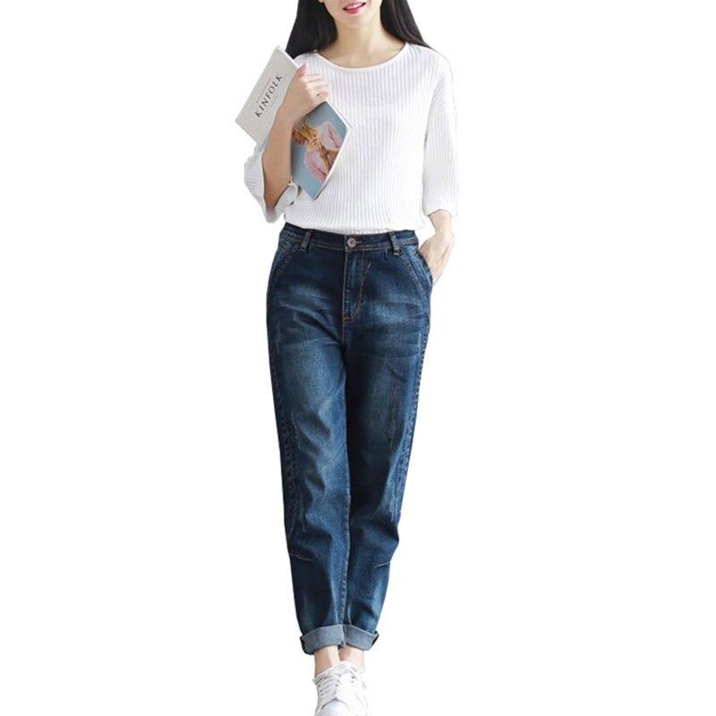 2020 Spring Jeans Harem Pants Women Trousers Casual Plus Size 4XL Loose Vintage Denim Pants High Waist Jeans Women Full Pants