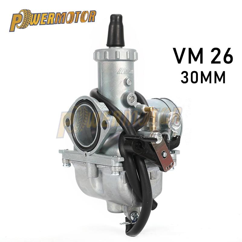 Powermotor mikuni vm26 30mm mikuni vm26 carburador da motocicleta carburador vm26 carb pz30 30mm carb para 150cc 160cc 200cc 250cc